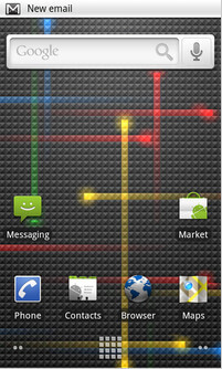gambar nexus one icon dan home screen