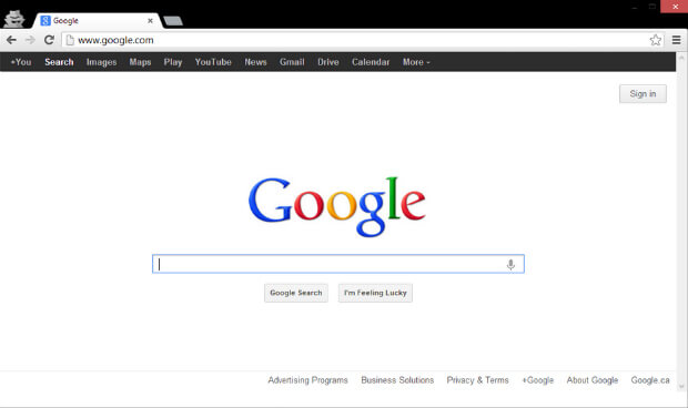 halaman google