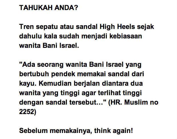 think again memakai sepatu hak tinggi
