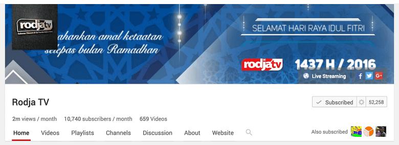 belajar islam di youtube ahlussunnah rodjatv