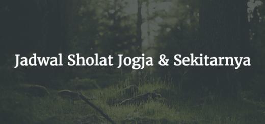 jadwal sholat jogja hari ini isya dzuhur ashar subuh maghrib