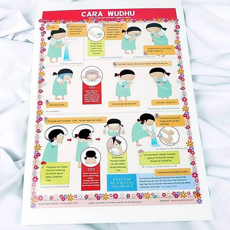 poster wudhu anak perempuan