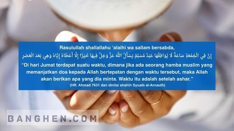 waktu mustajab berdoa hari jumat setelah ashar
