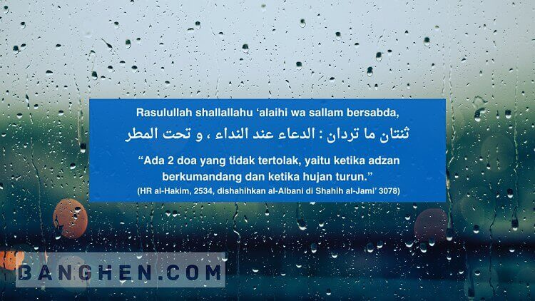 waktu mustajab berdoa hujan